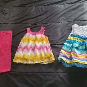 Girls size 12 months dress and 2pc set